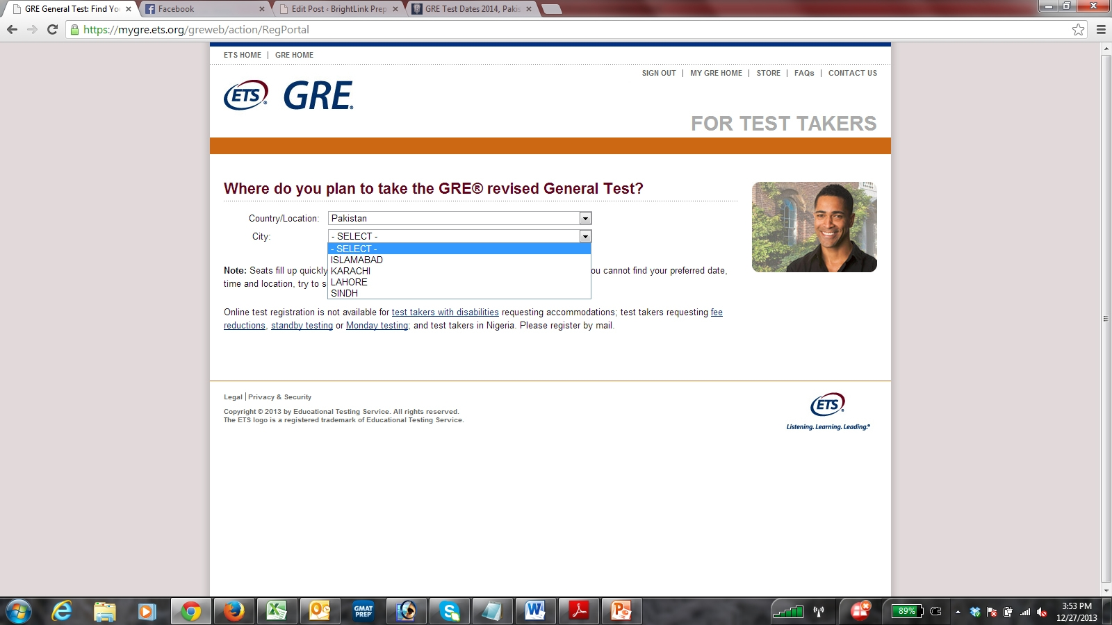 Gre test dates in Australia