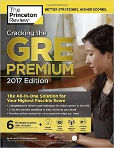 The Princeton Review, Cracking the GRE, 2017 Edition