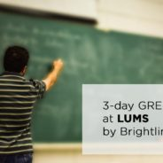 3-day GRE Session at LUMS by Brightlink Prep